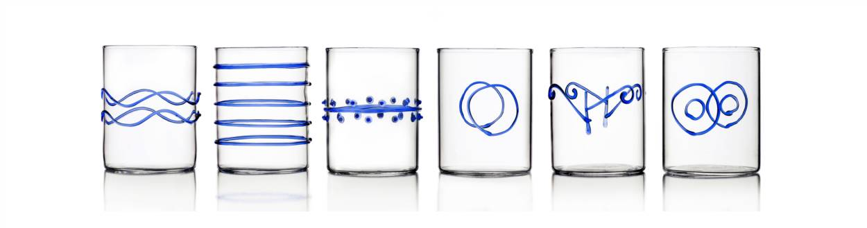 6pcs Water Glass assorted