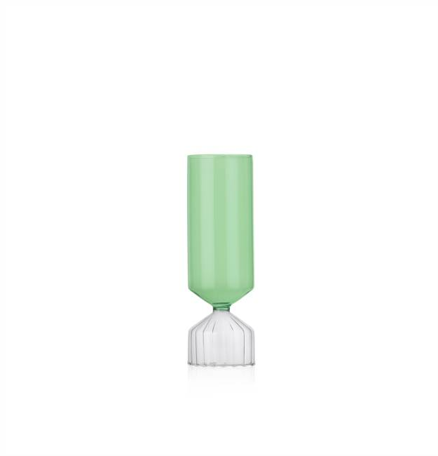 Short Vase Clear/green