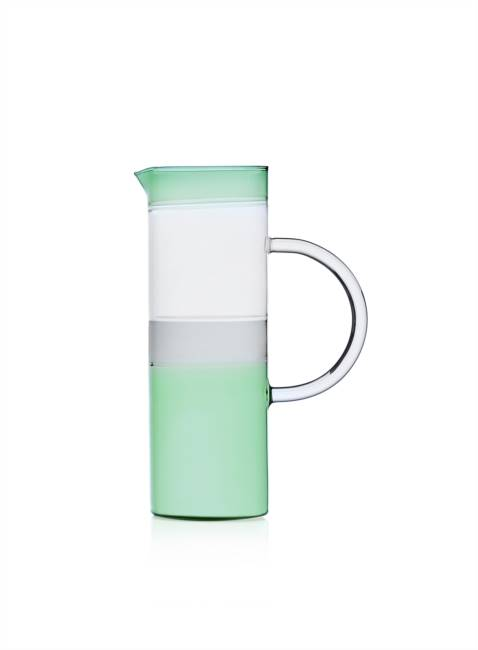 Tequila Cylindrical Jug Green/smoke/clear