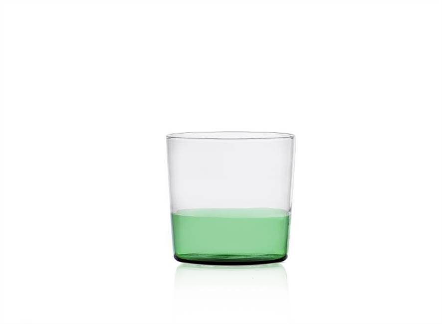 Water Glass Green/clear