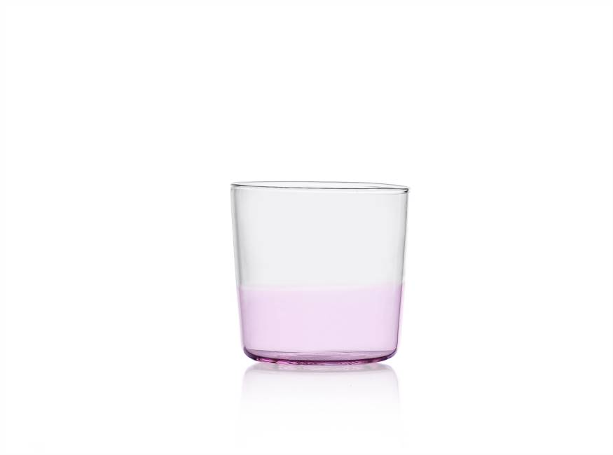 Water Glass Pink/clear