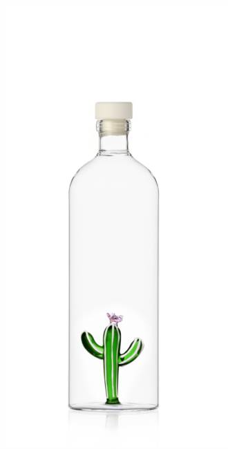 Bottle with lid green Cactus