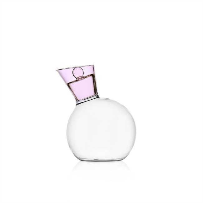 Oil Bottle With Lid Clear/pink