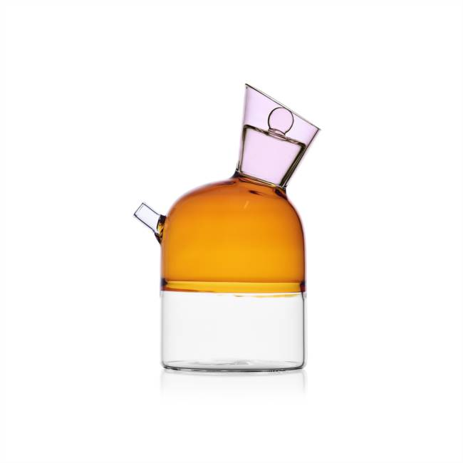 Oil Bottle Clear/amber/pink