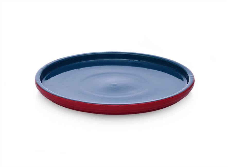 Dinner Plate 26x2 Blue/red