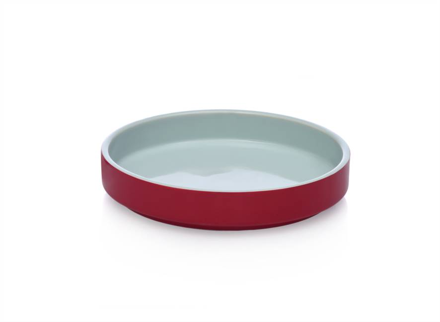 Round Tray 21x4 Light Blue/red