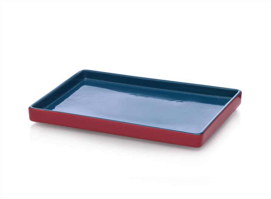 Tray 32x24 Blue/red