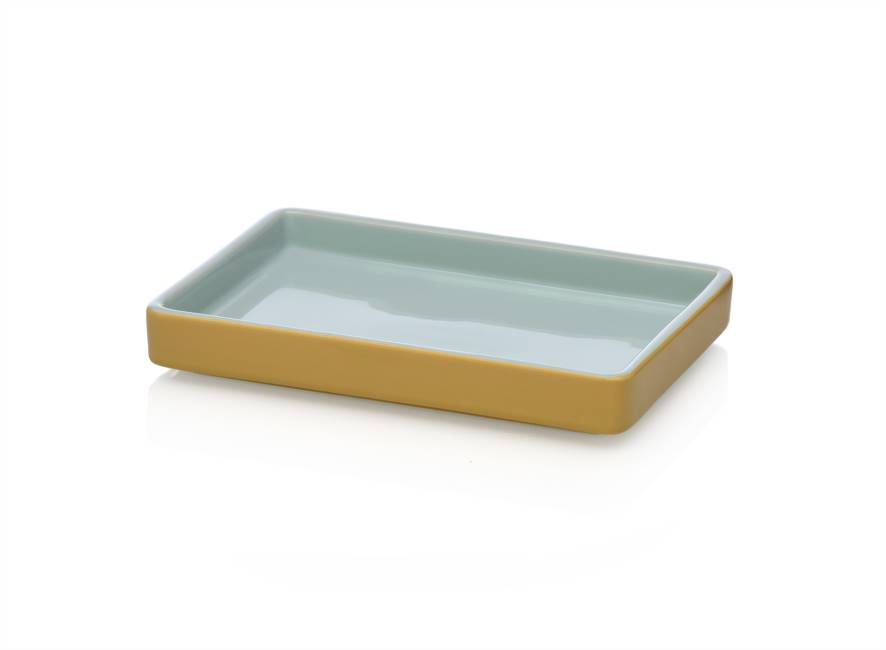 Tray 21x15 Light Blue/amber