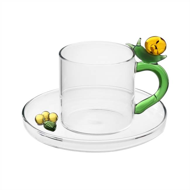 Coffee cup with saucer Snail