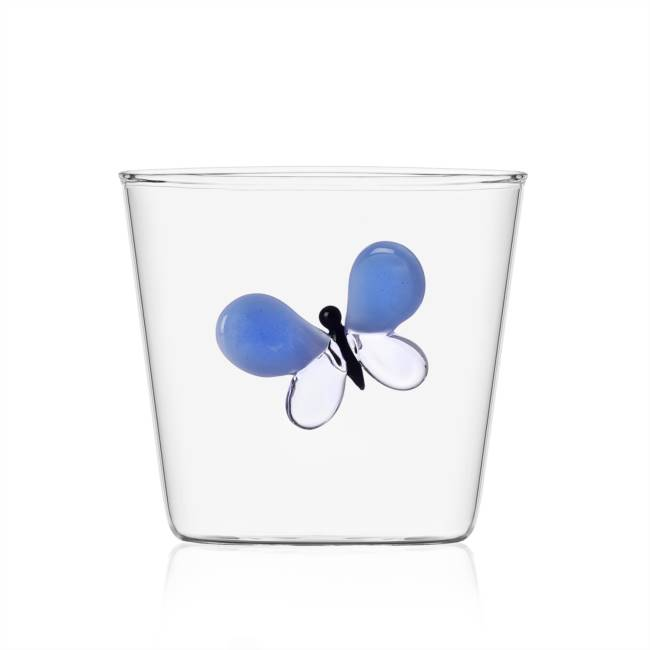 Tumbler blue butterfly