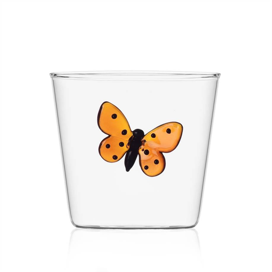 Tumbler red butterfly